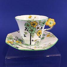 Melba Fine Bone China England Tea Cup Saucer With Flower Handle Reg. 778351