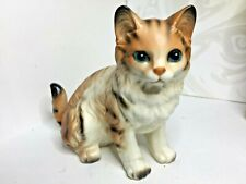 Awesome Lefton Vintage Tabby Tiger Cat Figurine H6364 Made In Japan Larger size