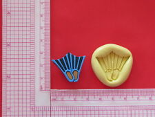 Scuba Fins Silicone Mold A878 Candy Chocolate Craft Fondant Soap Party Favor
