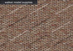 1:12 Scale Brick Wall - Vinyl Decal sheets. Action Figure. Design 1