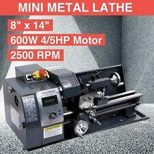 "Auto 600w 8""x14"" Variable-Speed Mini Metal Lathe Motor Metalworking Milling"