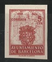 ESPAÑA - BARCELONA - 1944 - EDIFIL 58 S/D - NUEVO SIN GOMA