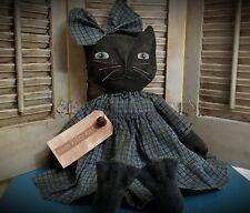 New listing Primitive Black Cat Doll ~ Kitty ~ Girl ~