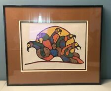 Goyce Kakegamic Loon's Nocturnal Call Serigraph Signed Numbered 1977 Morrisseau