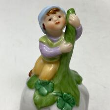 Vintage Avon 1983 Little Boy Elf Fairy Gnome Pixie Bell Tulip Flower Figurine