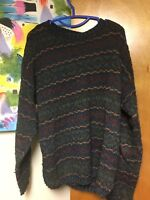 Vintage Woolrich Pullover Sweater Men's Medium Multi Color Cosby Style USA Made