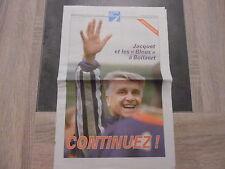 Supplément La Voix Du Nord – 28/06/1998 – Jacquet et les «Bleus» à Lens
