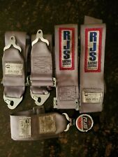 Rjs Racing Cam Lock Silver 5 Pt. Seat Belts Harness Derby Rat Rod Drag Drift
