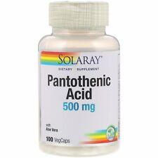 Pantothenic Acid, 500 mg, 100 VegCaps