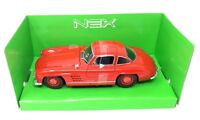 Welly DieCast Model car 1/24 Mercedes Benz 300 SL Red new and box