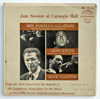 "Mel Powell & His All-Stars ‎Jam Session At Carnegie Hall 2 x 7"" EP 45 RPM Krupa"