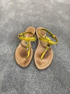 Yellow Diamond Veto Cuoio Sandals Handmade In Italy Size 36