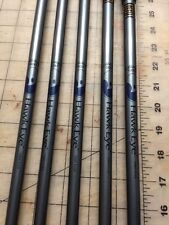 Callaway Hawk Eye Firm Flex Graphite Iron Shafts Partial Set 4-6, 8-9 Bore Thru