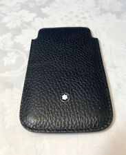 Montblanc Cover Smartphone Iphone 4/4s Alcina pelle Soft Grain Black  109173 NEW