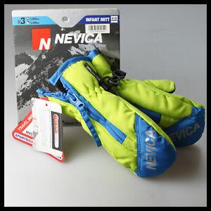 NEVICA N3 Infant Ski Snow Mitt Winter Gloves Green Blue Black 3000mm 0-12 months
