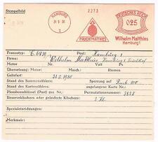 Ananas 1930 AFS Frucht  Matthies Hamburg Unikat für die gr. Sammlung Archivkarte