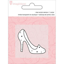 "Imaginisce Little Princess ""Slipper"" Clear Stamp! Glass Heel"