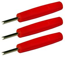 3 x Tyre Valve Core Remover Removal Tool Key - High Quality Cars & Bikes
