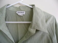 BRAND NEW NONI WOMENS LONG SLEEVE COLLARED SHIRT BLOUSE SIZE 18 GREEN