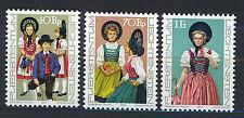 LIECHTENSTEIN 1977 MNH SC.628/630 Tradicional Costumes