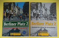 book libro BERLINER PLATZ 2 Intensivtrainer 2003 LONGENSCHEIDT tedesco (LG1)