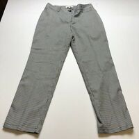Talbots Curvy Fit Gray Blue Jacquard Straightleg Dress Pants Sz 8P A2181