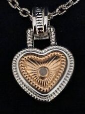 """GOLD PLATED SILVER HEART PENDANT AND 18"""" SILVER CHAIN WITH 3"""" EXTENSION"""