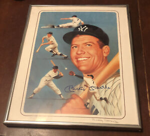 Mickey Mantle Autographed Print Rudy Garcia 111/1500 Framed