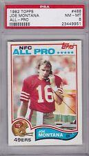 JOE  MONTANA lot of 2 graded cards - 1982 & 1983 Topps  PSA 8 & 7