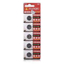 5Pcs 3V Coin Cells Button Battery CR1620 1620 ECR1620 for Watches Camera Toys