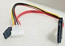 7+15 22 Pin Power/Data Sata to 4-Pin IDE Molex & Sata Port 10 Inch Cable
