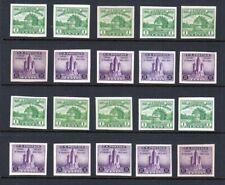 1933 APS Expo Sc 730 & 731 imperf souvenir sheet 10 sets NGAI