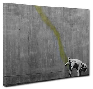 British Bulldog by Banksy Canvas Picture Wall Art Print Size A1 51x76cm