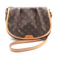 Auth LOUIS VUITTON Menilmontant PM Crossbody Shoulder Bag Canvas M40474 #Y412070