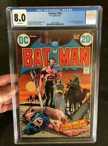 1972 Batman #244 CGC 8.0 Neal Adams Cover and Art - Nicest 8.0 You'll Find!