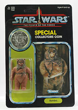 Vintage Star Wars Power of the Force POTF Romba the Ewok MOC CASE FRESH B