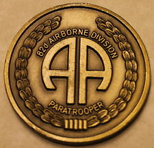 82nd Airborne Division Paratrooper Soldier Support Battalion Army Challenge Coin