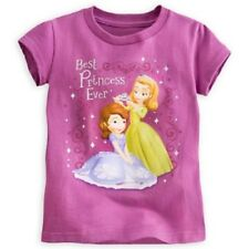 DISNEY STORE SOFIA THE FIRST TEE WITH SOFIA & AMBER SIZE 7/8 GLITTER ACCENTS NWT