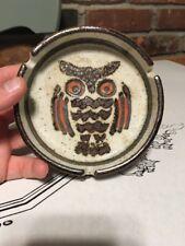 vtg MID CENTURY MODERN OWL ART POTTERY ASHTRAY eames era