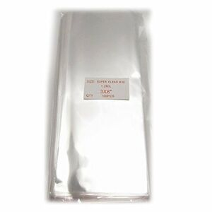 200 Clear Flat Cello/Cellophane Treat Bag 3x8 inch 1.2mil Gift Basket Supplies