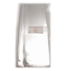 100x Clear Flat Cello/Cellophane Treat Bag 3x8 inch1.2mil Gift Basket Supplies