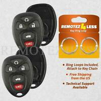 2 for Buick Cadillac Chevy GMC Keyless Remote Car Entry Key Fob Shell Case 5btn