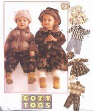 Toddlers Winter Pants Dress Jacket Hat Sewing Pattern UNCUT Size 2 3 4