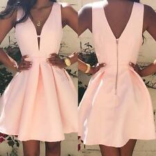 Women Summer Bodycon Sleeveless Ball Gown Prom Party Cocktail Short Mini Dresses