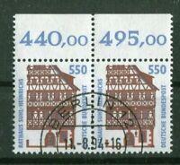Bund 1746 OR waagerechtes Paar gestempelt EST Berlin 12 Sehenswürdigkeiten used