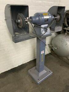 Baldor 407B Buffer / Polisher Polishing Station, 1HP, 1800RPM, Pedestal Package