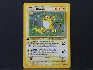 1st Edition German Raichu 14/102 - Base Pokemon Card (Near Mint)