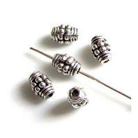 Intercalaires spacer /_ Métal argenté 6X5,5mm /_ Perles apprêts créa bijoux /_ A265