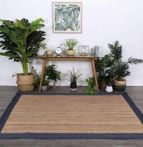 Rug 100% Natural Braided Jute handmade reversible modern rustic look runner rug
