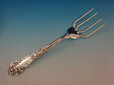 """French Renaissance by R&B Sterling Silver BBQ Serving Fork 7 3/4"""" Custom"""